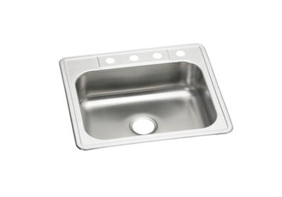"Image for Elkay Neptune Stainless Steel 25"" x 22"" x 7-1/16"", Single Bowl Top Mount Sink from ELKAY"