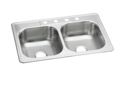 "Image for Elkay Neptune Stainless Steel 33"" x 22"" x 7-1/16"", Double Bowl Top Mount Sink from ELKAY"