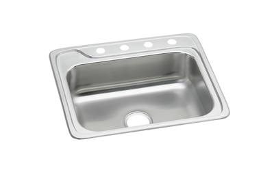 "Image for Elkay Neptune Stainless Steel 25"" x 22"" x 8"", Single Bowl Top Mount Sink from ELKAY"