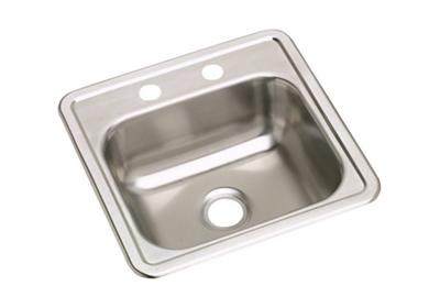 "Image for Elkay Neptune Stainless Steel 15"" x 15"" x 5-1/8"", Single Bowl Top Mount Sink from ELKAY"