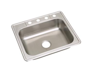 "Image for Elkay Neptune Stainless Steel 25"" x 22"" x 6-1/16"", Single Bowl Top Mount Sink from ELKAY"