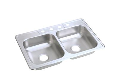 "Image for Elkay Neptune Stainless Steel 33"" x 22"" x 6-1/16"", Double Bowl Top Mount Sink from ELKAY"