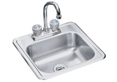 "Image for Elkay Neptune Stainless Steel 15"" x 15"" x 5-3/16"", Single Bowl Top Mount Sink + Faucet Kit from ELKAY"