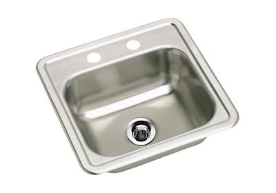 "Image for Elkay Stainless Steel 15"" x 15"" x 5-1/8"", Single Bowl Top Mount Sink from ELKAY"
