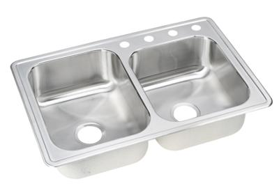 "Image for Elkay Neptune Stainless Steel 33"" x 22"" x 8"", Double Bowl Top Mount Sink from ELKAY"
