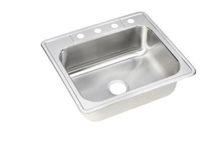 "Image for Elkay Neptune Stainless Steel 25"" x 22"" x 8-1/16"", Single Bowl Top Mount Sink from ELKAY"
