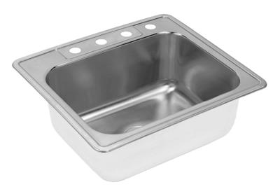 "Image for Elkay Neptune Stainless Steel 25"" x 22"" x 10-1/8"", Single Bowl Top Mount Sink from ELKAY"