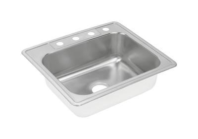 "Image for Elkay Neptune Stainless Steel 25"" x 22"" x 8-3/16"", Single Bowl Top Mount Sink from ELKAY"