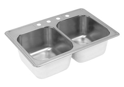 "Image for Elkay Neptune Stainless Steel 33"" x 22"" x 10-1/8"", Double Bowl Top Mount Sink from ELKAY"