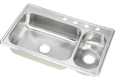 "Image for Elkay Neptune Stainless Steel 33"" x 22"" x 7"", Double Bowl Top Mount Sink from ELKAY"