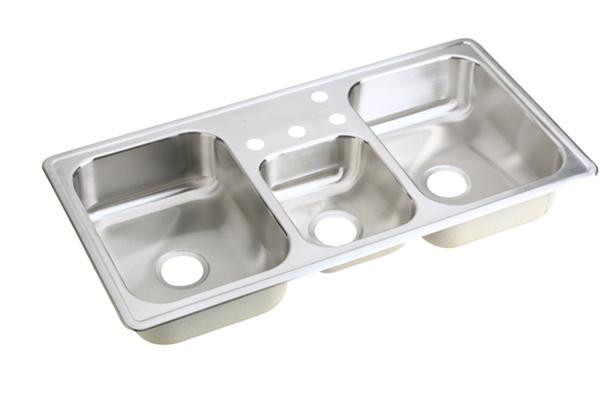 Elkay Neptune Stainless Steel Triple Bowl Sink Nmrb43224