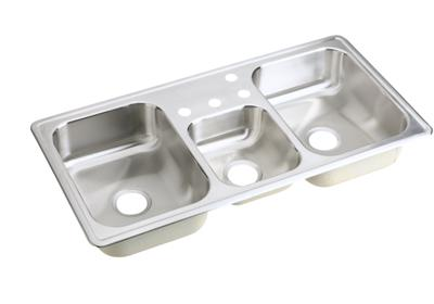 "Image for Elkay Neptune Stainless Steel 43"" x 22"" x 8-1/8"", Triple Bowl Top Mount Sink from ELKAY"