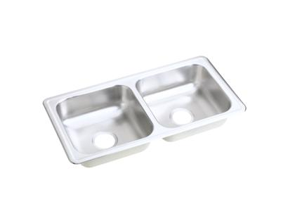 "Image for Elkay Neptune Stainless Steel 33"" x 17"" x 6"", Equal Double Bowl Top Mount Sink from ELKAY"
