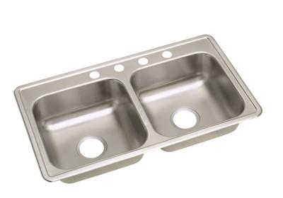 "Image for Elkay Neptune Stainless Steel 33"" x 19"" x 6-7/16"", Double Bowl Top Mount Sink from ELKAY"
