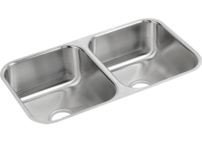 "Image for Elkay Neptune Stainless Steel 31-3/4"" x 18-1/4"" x 8"", Equal Double Bowl Undermount Sink from ELKAY"