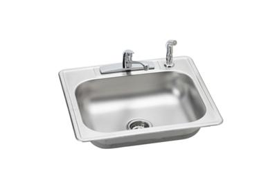 "Image for Elkay Neptune Stainless Steel 25"" x 22"" x 7-1/16"", Single Bowl Top Mount Sink + Faucet Kit from ELKAY"
