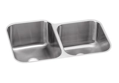 "Image for Elkay Neptune Stainless Steel 31-1/4"" x 20-1/2"" x 10"", Offset Double Bowl Undermount Sink from ELKAY"
