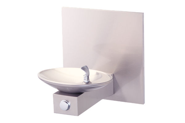 Halsey Taylor OVL-II Single Fountain, Wall Mount, Non-Filtered, Non-Refrigerated, Freeze Resistant, Stainless