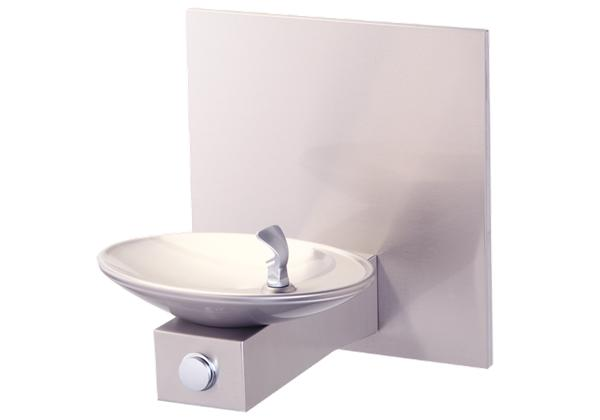 Image for Halsey Taylor OVL-II Single Wall Mount Fountain, Non-Filtered Non-Refrigerated Freeze Resistant Stainless from Halsey Taylor