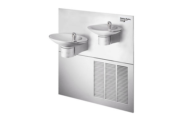 Halsey Taylor OVL-II Bi-Level Reverse GreenSpec Fountain, Filtered 8 GPH Stainless
