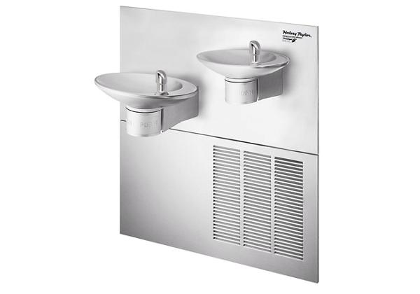 Image for Halsey Taylor OVL-II Fountain, Bi-Level Reverse, GreenSpec, Non-Filtered, 8 GPH, Stainless from Halsey Taylor