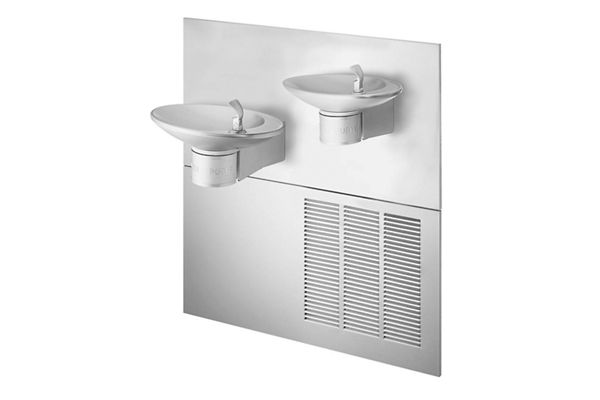 Halsey Taylor OVL-II Fountain, Bi-Level Reverse, Non-Filtered, 8 GPH, Stainless