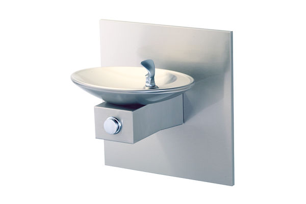 Halsey Taylor OVL-II Single Fountain, Non-Filtered, Non-Refrigerated, Freeze Resistant, Stainless