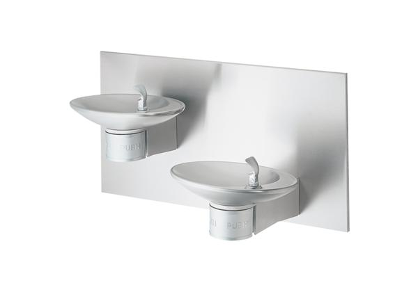 Image for Halsey Taylor OVL-II Bi-Level Wall Mount Fountain, Non-Filtered Non-Refrigerated Stainless from Halsey Taylor