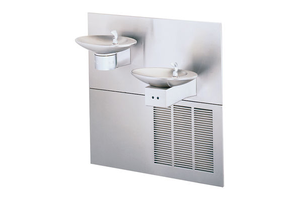 Halsey Taylor OVL-II Fountain, Bi-Level, Hands-Free, Non-Filtered, 8 GPH, Stainless