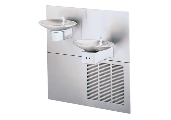 Image for Halsey Taylor OVL-II Bi-Level Hands-Free Fountain, Non-Filtered 8 GPH Stainless from Halsey Taylor