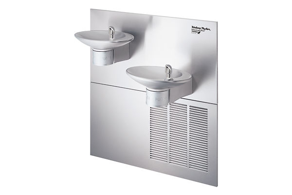 Halsey Taylor OVL-II Bi-Level GreenSpec Fountain, Filtered 8 GPH Stainless