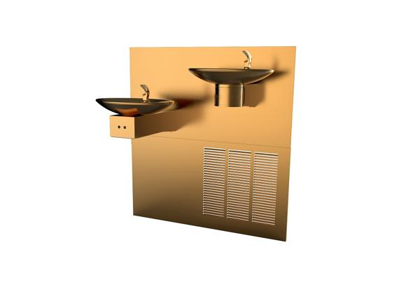 Image for Halsey Taylor OVL-II Fountain, Bi-Level Reverse, Hands-Free, Non-Filtered, 8 GPH, Aztec Gold from Halsey Taylor