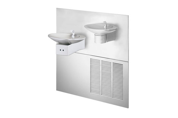 Halsey Taylor OVL-II Bi-Level Reverse Hands-Free Fountain, Non-Filtered 8 GPH Stainless