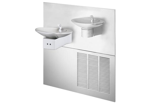 Image for Halsey Taylor OVL-II Fountain, Bi-Level Reverse, Hands-Free, Non-Filtered, 8 GPH, Stainless from Halsey Taylor