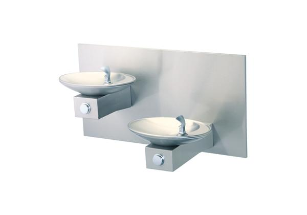 Image for Halsey Taylor OVL-II Bi-Level Fountain, Wall Mount, Non-Filtered, Non-Refrigerated, Freeze Resistant, Stainless from Halsey Taylor