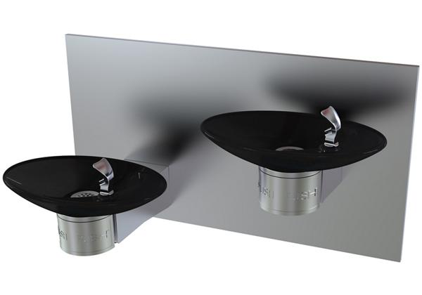 Image for Halsey Taylor OVL-II Bi-Level Fountain, Non-Filtered, Non-Refrigerated, Black from Halsey Taylor