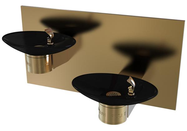 Image for Halsey Taylor OVL-II Bi-Level Fountain, Non-Filtered, Non-Refrigerated, Aztec Gold from Halsey Taylor