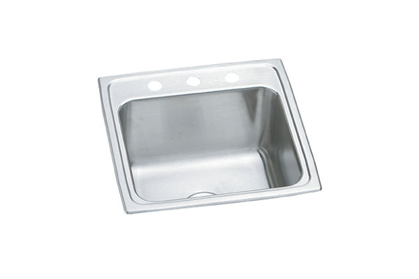 "Elkay Pursuit Stainless Steel 19-1/2"" x 19"" x 10-3/16"", Single Bowl Top Mount Laundry Sink"