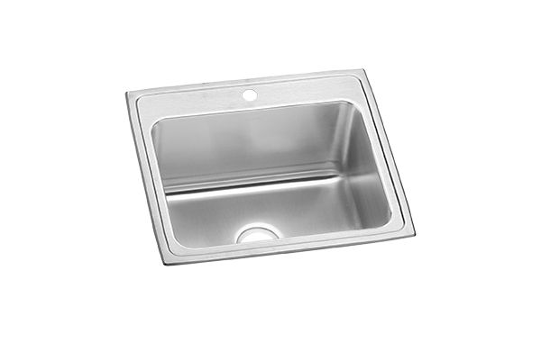 "Elkay Pursuit Stainless Steel 25"" x 22"" x 12-1/8"", Single Bowl Top Mount Laundry Sink"