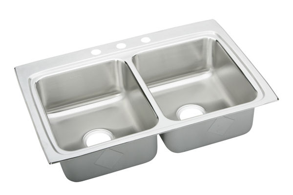 Pursuit Stainless Steel Double Bowl Top Mount Sink