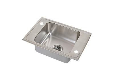 "Image for Elkay Pacemaker Stainless Steel 25"" x 17"" x 6-1/2"", Single Bowl Top Mount Classroom Sink from ELKAY"