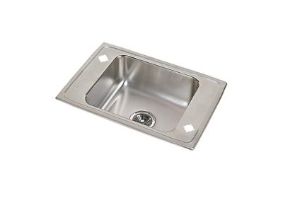"Image for Elkay Pacemaker Stainless Steel 25"" x 17"" x 6-1/2"", Single Bowl Top Mount Classroom ADA Sink from ELKAY"