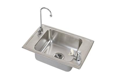 "Image for Elkay Pacemaker Stainless Steel 25"" x 17"" x 6-1/2"", Single Bowl Top Mount Classroom Sink and Faucet Kit from ELKAY"