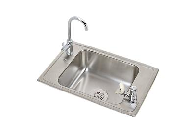 "Image for Elkay Pacemaker Stainless Steel 25"" x 17"" x 6-1/2"", Single Bowl Top Mount Classroom ADA Sink and Faucet Kit from ELKAY"