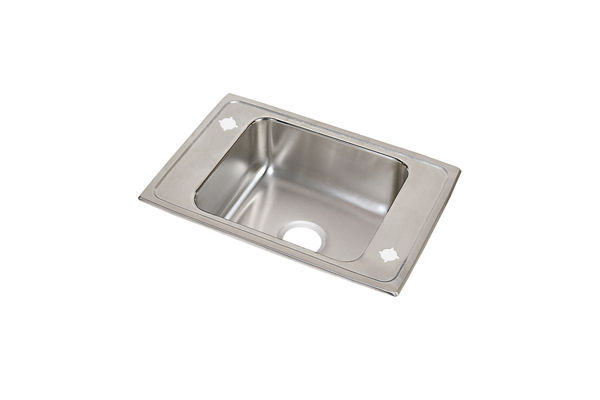 "Elkay Celebrity Stainless Steel 25"" x 17"" x 5-1/2"", Single Bowl Drop-in Classroom ADA Sink"