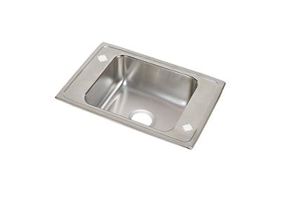 "Image for Elkay Pacemaker Stainless Steel 25"" x 17"" x 7-1/8"", Single Bowl Top Mount Classroom Sink from ELKAY"