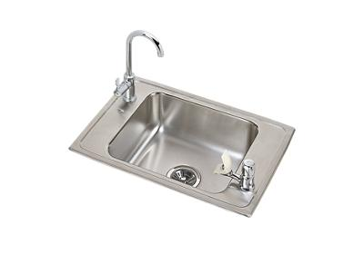 "Image for Elkay Celebrity Stainless Steel 25"" x 17"" x 7-1/8"", Single Bowl Drop-in Classroom Sink and Faucet / Bubbler Kit from ELKAY"