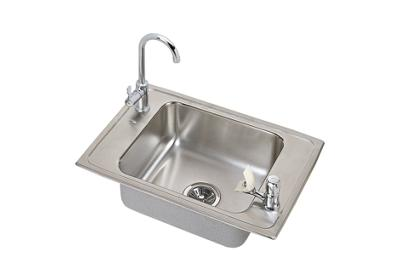 "Image for Elkay Pacemaker Stainless Steel 25"" x 17"" x 7-1/8"", Single Bowl Top Mount Classroom Sink and Faucet Kit from ELKAY"