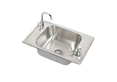 "Image for Elkay Pacemaker Stainless Steel 25"" x 17"" x 7-1/8"", Single Bowl Top Mount Classroom Sink Kit from ELKAY"