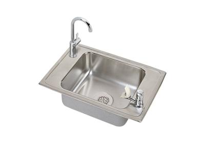 "Image for Elkay Pacemaker Stainless Steel 25"" x 17"" x 7-1/8"", Single Bowl Top Mount Classroom Sink and Faucet / Bubbler Kit from ELKAY"